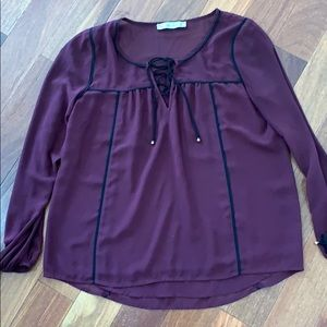 Abercrombie burgundy top, small